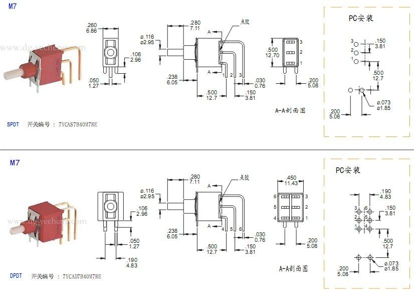 IP67防尘防水按键开关